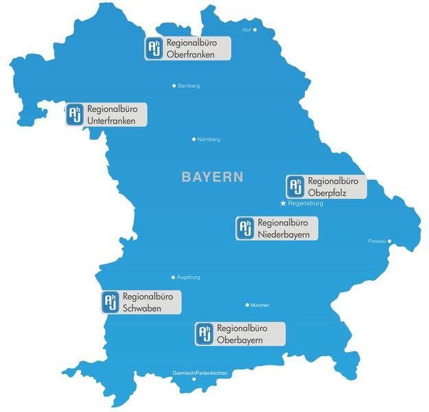 Karte Oberbayern Regionen.Alt Hilft Jung Bayern E V Wirtschaftssenioren Helfen